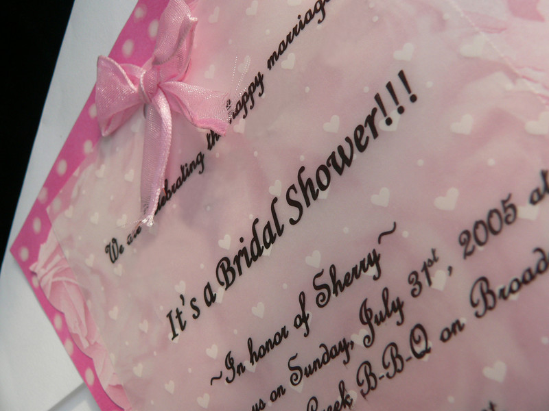 The Menu for your Bridal Shower
